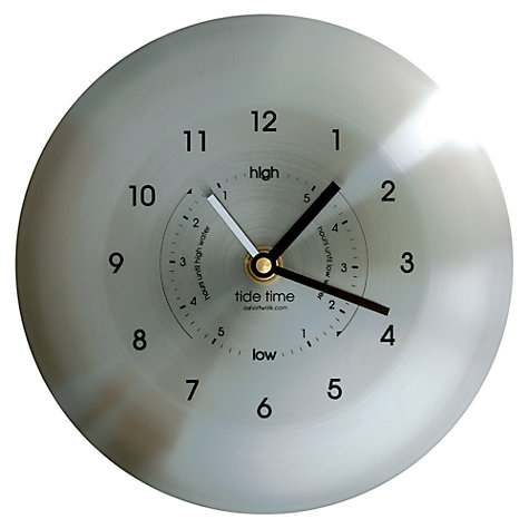 Buy ashortwalk Stainless Steel Time and Tide Clock, Dia.19.5cm Online at johnlewis.com