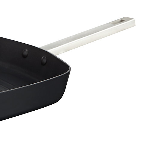 Buy House by John Lewis Hard Anodised Grill Pan, Dia.28cm Online at johnlewis.com