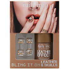 Buy Nails Inc. Bling It On Leather & Skulls Varnish, Brown, 10ml Online at johnlewis.com