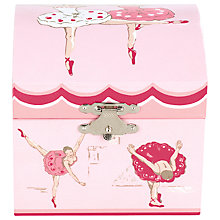 Buy Cath Kidston Ballerina Jewellery Box, Pink Online at johnlewis.com