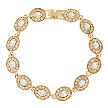 Buy Carolee Crystal Set Gold Toned Link Bracelet Online at johnlewis.com