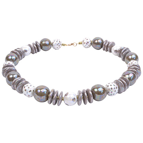 Buy Kazuri Khadija Cafe Latte Mother of Pearl Necklace, Neutrals Online at johnlewis.com