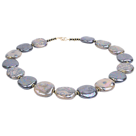 Buy Kazuri Pita Pat Kaleidoscope Ceramic Disc Necklace, Mink Online at johnlewis.com