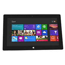 "Buy Microsoft Surface Tablet, NVIDIA Tegra 3, Windows RT, 10.6"", Wi-Fi, 64GB + FREE Keyboard Cover, White Online at johnlewis.com"