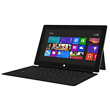 "Buy Microsoft Surface RT Tablet & Touch Keyboard, NVIDIA Tegra 3, 1.3GHz, Windows RT, 10.6"", Wi-Fi, 64GB Online at johnlewis.com"