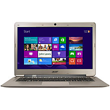"Buy Acer Aspire S3-391 Ultrabook, Intel Core i5, 1.8GHz, 4GB RAM, 500GB, 13.3"", Aluminium Online at johnlewis.com"