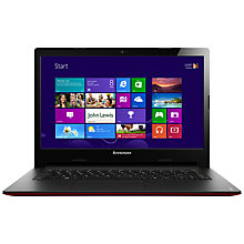 "Buy Lenovo Ideapad S400 Laptop, Intel Pentium, 1.8GHz, 4GB RAM, 500GB, 14"", Red Online at johnlewis.com"
