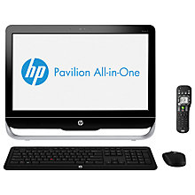 "Buy HP Pavilion 23-B190 AIO PC, Intel Core i5, 2.7GHz, 6GB RAM, 2TB, 23"", Black Online at johnlewis.com"