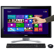 "Buy Sony Vaio L Series SVL2413M1EB All-in-One Desktop PC, Intel Core i5, 8GB RAM, 1TB, Blu-ray, 24"" Touch Screen Online at johnlewis.com"