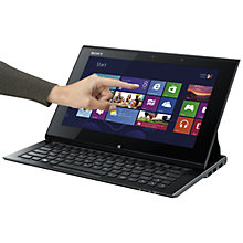 "Buy Sony SVD1121Q2EB Convertible Ultrabook, Intel Core i5, 1.7GHz, 4GB RAM, 128GB SSD, 11.6"" Touch Screen, Black Online at johnlewis.com"