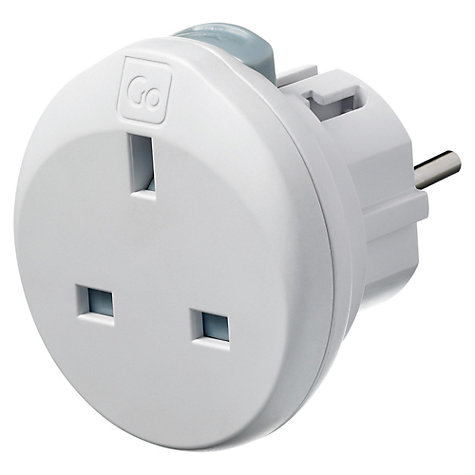 Buy Design Go Travel Mini Global Adapter, White Online at johnlewis.com