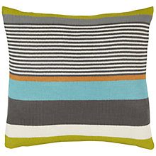Buy Harlequin Bali Stripe Cushion, Charcoal Online at johnlewis.com