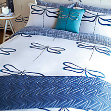 Buy Scion Dragonfly Standard Pillowcases, Indigo Online at johnlewis.com
