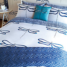 Buy Scion Dragonfly Oxford Pillowcase, Indigo Online at johnlewis.com