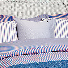 Buy Gant Montauk Stripe Oxford Pillowcase, Red Online at johnlewis.com