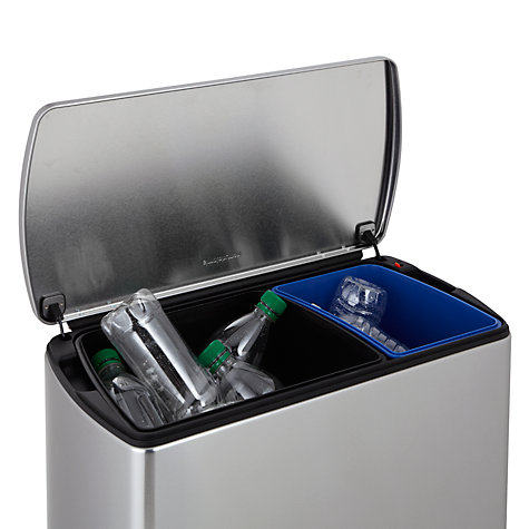 Buy simplehuman Rectangular Recycling Bin, 46L Online at johnlewis.com