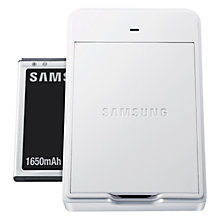 Buy Samsung Galaxy Camera Battery Kit, White Online at johnlewis.com