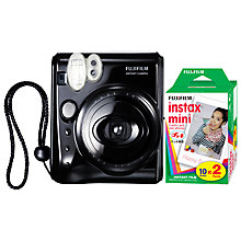 Buy Fujifilm Instax Mini 50 Instant Analogue Camera with 2x Instax Film Packs Online at johnlewis.com
