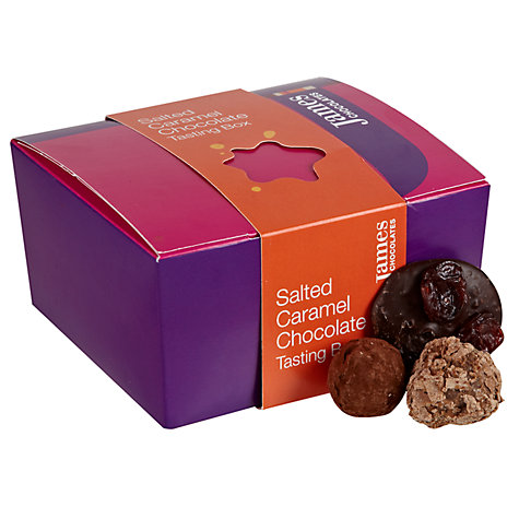 Buy James Chocolates Salted Caramel Chocolate Tasting Box, 180g Online at johnlewis.com