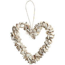 Buy John Lewis Tiara Shell Heart Decoration, Medium Online at johnlewis.com