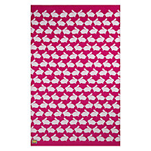 Buy Anorak Kissing Rabbits Beach Towel, Pink Online at johnlewis.com