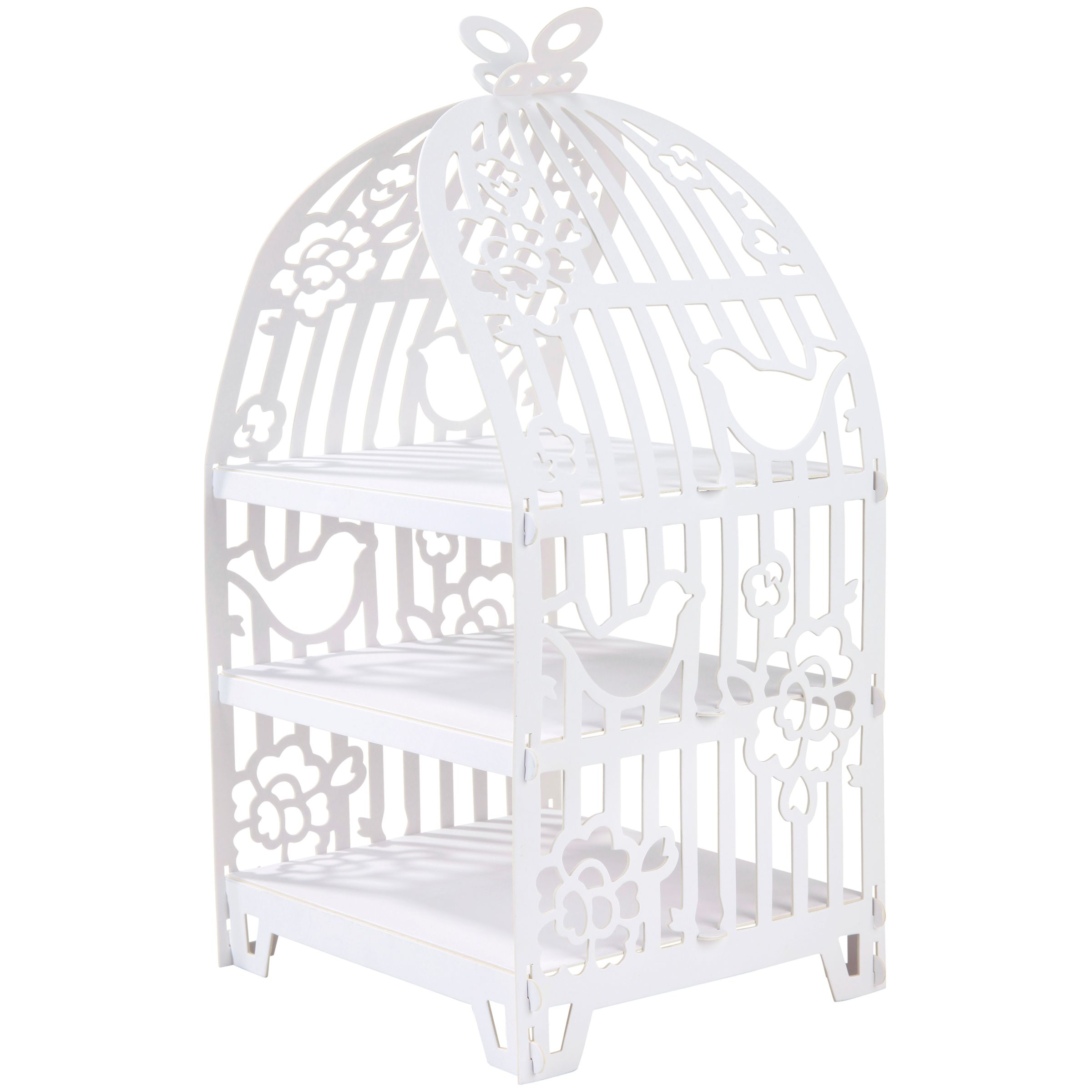Talking Tables Something In The Air Birdcage Cake Stand, White