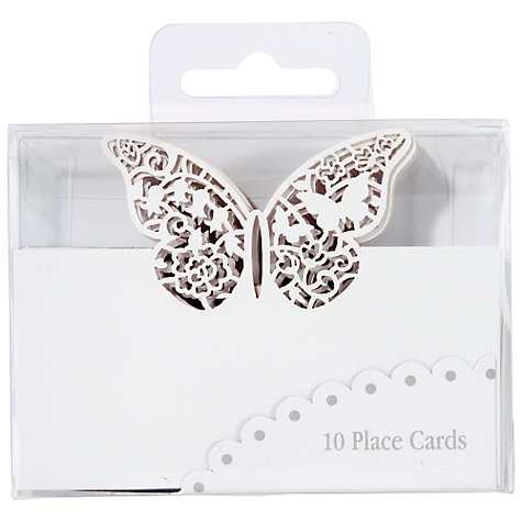 Buy Talking Tables Butterfly Placecards, White, Pack of 10 Online at johnlewis.com