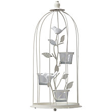 Buy John Lewis Vintage Bird Cage Tealight Holder, White Online at johnlewis.com
