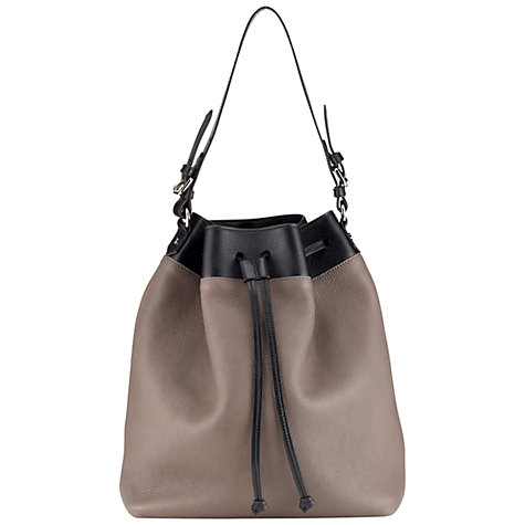 Buy Whistles Crosby Bucket Bag, Black Multi Online at johnlewis.com