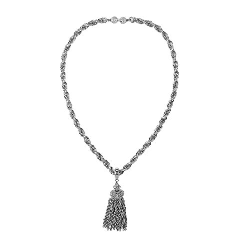 Buy Susan Caplan Vintage 1980s Monet Silver Plated Tassel Necklace Online at johnlewis.com