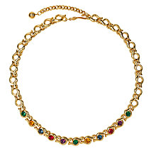 Buy Susan Caplan Vintage 1970s Napier Gold Plated Coloured Swarovski Necklace Online at johnlewis.com