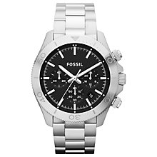 Buy Fossil CH2848 Men's Retro Traveler Stainless Steel Watch, Silver Online at johnlewis.com