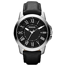 Buy Fossil FS4745 Men's Grant Leather Strap Watch Online at johnlewis.com