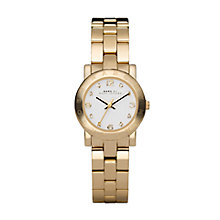 Buy Marc by Marc Jacobs MBM3057 Women's Steel Bracelet Round Watch, Gold Online at johnlewis.com