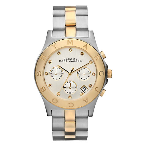 Buy Marc by Marc Jacobs MBM3177 Women's Two Tone Chronograph Watch Online at johnlewis.com