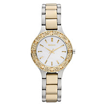 Buy DKNY NY8742 Women's Mother of Pearl Diamante Watch, Silver / Gold Online at johnlewis.com