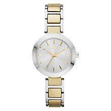 Buy DKNY NY8747 Women's Two Tone Stainless Steel Watch, Silver / Gold Online at johnlewis.com