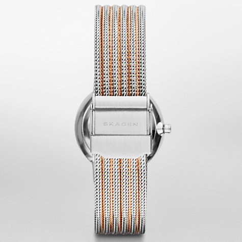 Buy Skagen Women's Mother of Pearl Dial Two Tone Bracelet Strap Watch Online at johnlewis.com