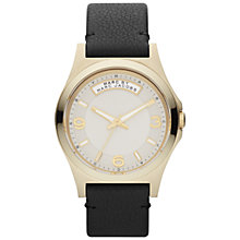 Buy Marc by Marc Jacobs Women's Round Dial Leather Strap Watch Online at johnlewis.com