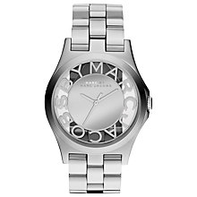 Buy Marc by Marc Jacobs MBM3205 Women's Skeleton Border Watch, Silver Online at johnlewis.com