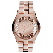 Buy Marc by Marc Jacobs MBM3207 Women's Skeleton Border Watch, Rose Gold Online at johnlewis.com