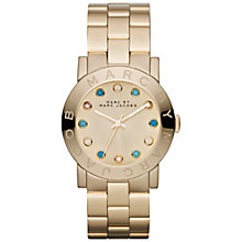 Buy Marc by Marc Jacobs Women's Crystal Marker Steel Bracelet Watch Online at johnlewis.com