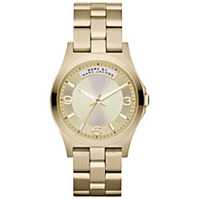 Buy Marc by Marc Jacobs MBM3231 Women's Champagne Dial Watch, Gold Online at johnlewis.com