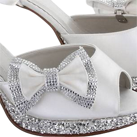 Buy Rainbow Club Orion Diamante Double Shoe Bows, Ivory Online at johnlewis.com