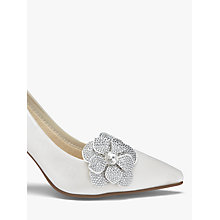 Buy Rainbow Club Vela Diamanté Flower Shoe Bows, Ivory Online at johnlewis.com