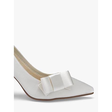 Buy Rainbow Club Zavior Satin Shoe Bows, Ivory Online at johnlewis.com