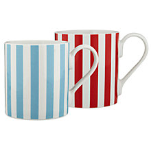 Buy Cath Kidston Red & Blue Stripe Mugs, Set of 2 Online at johnlewis.com