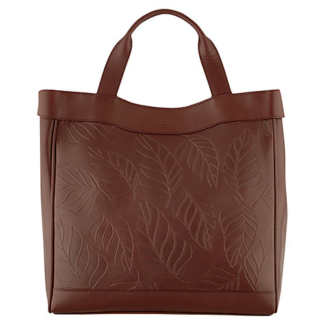 Buy Radley Carsington Leaf Print Large Tote Handbag, Earth Online at johnlewis.com