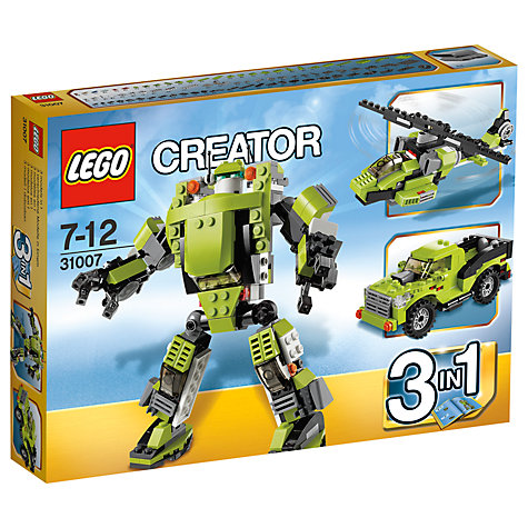 Buy LEGO Creator 3-in-1 Power Mech Online at johnlewis.com