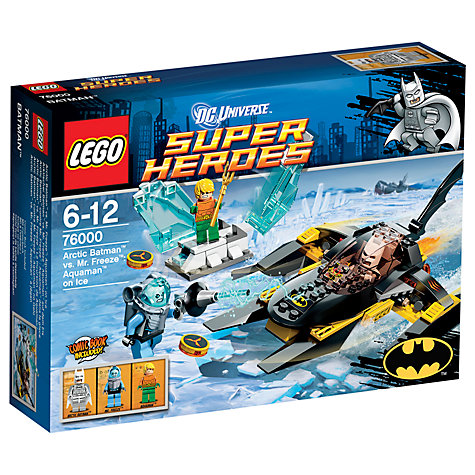 Buy LEGO Super Heroes: Arctic Batman vs. Mr Freeze, Aquaman on Ice Online at johnlewis.com